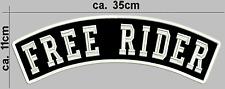 Free Rider Biker Patches  Rückenaufnäher  Toprocker