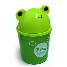 Cute Frog Small Dustbin  Animal Character Wastebasket Garbage Trash bin