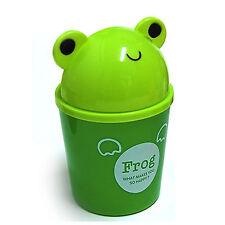 Cute Frog Small Dustbin Animal Character Wastebasket Garbage Trash bin