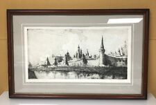 The Kremlin Moscow Drawing by Marie E. Williams Framed