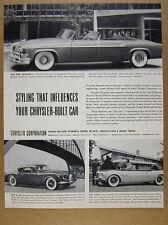 1952 Chrysler Parade Phaeton & K-310 C-200 Concept Cars photos vintage print Ad