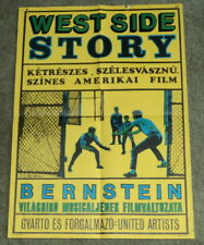REVESZ-WIGNER Hungarian MOVIE POSTER for BERNSTEIN'S WEST SIDE STORY, ORIG. 1961