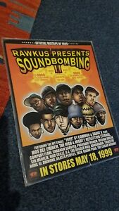 Soundbombing 2 Rawkus Records shop promo A4 poster Hip Hop New York Underground
