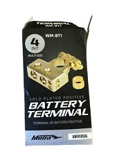 Metra 24K Gold Plated 4 Out Multi Size Positive Battery Terminal Wm-Bt1