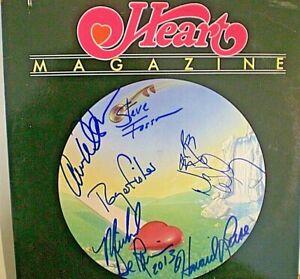 """SIGNED ALBUM LP """"HEART"""" SIGNED BY 6-ANN & NANCY WILSON-'MAGAZINE'-CERT LETTER-GA"""