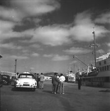 TANGER c. 1950 - Autos Quai Bateau Port Maroc - Négatif 6 x 6 - OST 40