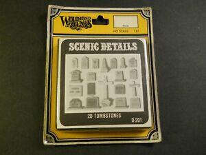 Woodland Scenics Tombstones 20pcs D-201