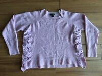 J.Crew Womens Top Sz L Linen Solid Pink 3/4 Sleeves Blouse