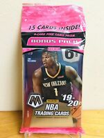 2019-20 PANINI MOSAIC PRIZM NBA BASKETBALL CELLO/FAT PACK ZION MORANT RC PINK