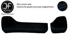 BLUE STITCH TWO PIECE DASH KIT TRIM SUEDE COVERS FOR TOYOTA AYGO 2014-2019