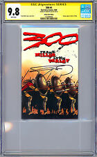 THE 300 #1 CGC-SS 9.8 SIGNED FRANK MILLER STORY COVER & ART ASHCAN REPRINT 2008