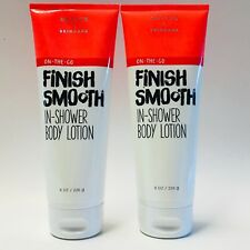2 Bath & Body Works Finish Smooth In Shower Body Lotion Active Skincare 8 oz
