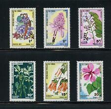 R061  P.R.Congo  1971  flowers flora postage dues    6v.  MNH