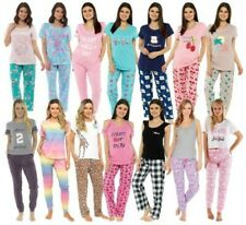 Mujer Jersey de Algodón/Poliéster Manga Corta Larga Pijamas Ropa para Dormir