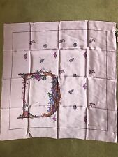 Vintage Christian Dior scarf pink blush floral Japan exclusive Wako Silk New tag