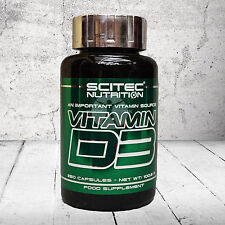 Scitec Nutrition Vitamina D3 una importante fuente de vitaminas 250 Cápsulas