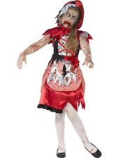 Zombie Red Riding Hood Dress Costume Fancy Dress Small 4-6 Halloween Horror