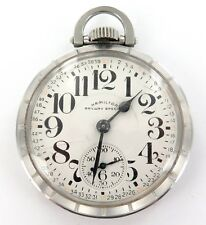.1957 HAMILTON RAILWAY SPECIAL 992B 16S 21J MONTGOMERY DIAL S/STEEL POCKET WATCH