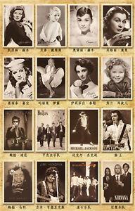 Lots 32pcs Famous Classic Movie Paintings Posters Movie Star Postcard Bulk Set
