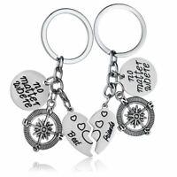3X(BBF Best Friends keychains Friendship Love Gift Keys for Women (2pcs) C3G4)