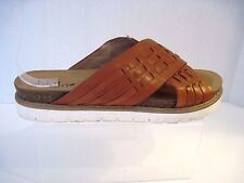 *Womens BIALA brown leather slides shoes sz. 40 M