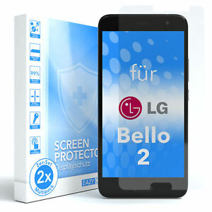 EAZY CASE 2x Glass screen protector for LG Bello 2 Safety Film Hard Foil 9H