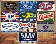 Job Lot 10 x METAL TIN SIGN WALL PLAQUE VINTAGE STYLE GARAGE WORKSHOP  #21