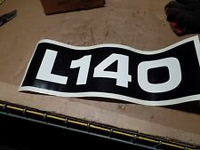 VOLVO CONSTRUCTION EQUIPMENT DECAL 140, L140, L-140, RM12565012, 12 565 012, NOS