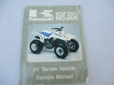 Kawasaki Mojave Ksf 250 All Terrain Vehicle Service Manual Atv Motorcycle 1990
