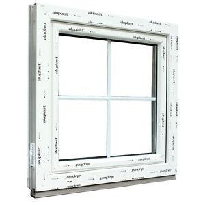 Fenêtre PVC Aluplast Blanc Ideal 4000  18 mm Croisillons incorporés OB
