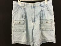 Cabelas hiker shorts size 18 blue jeans 7 pocket cotton 36 x 8