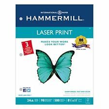 Hammermill - Laser Print Office Paper, 3-Hole Punch 24lb, Ltr, White