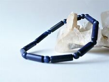 Bracelet en perles de Lapis lazuli tubes et rondes 4 mm - bleu pierre fine