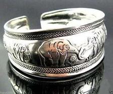 New Tibetan Tibet Silver Totem Bangle Cuff Bracelet elephant