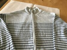 jackpot ladies 100% Cotton zip front long sleeved cardigan size 3 used