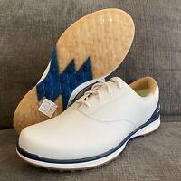 Sketchers Go Golf Shoes Women Sz 10 White Blue Water Resistant 5 Gen Cushioning
