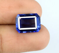 Blue Tanzanite Loose Gemstone Natural 7-8 Ct Octagon Cut 12 x 9 mm Certified