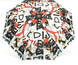 VALENTINE GFT NEW BURBERRY TRAFALGAR PACKABLE MEDAL CREST PRINT FOLDING UMBRELLA