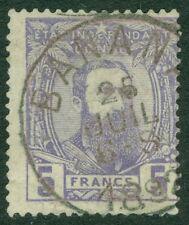 Belgian Congo : 1887. Scott #11 Beautiful Vf, Used stamp w/neat cancel. Cat $550