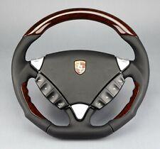 Porsche Cayenne 955 957 Mansory Performance wood steering wheel Lenkrad volant