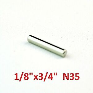 "10 Pack - Neodymium Rare Earth Magnets 1/8""x3/4"""