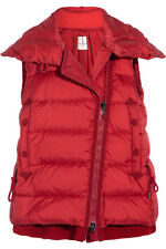 $1515 Moncler Red Laurie Aline Hooded  Down Jacket Quilted Vest Coat 0- Xs