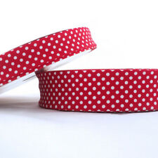 BY THE ROLL - EXTRA WIDE - POLKA DOT SPOT 30mm BIAS BINDING folded ALL COLOURS