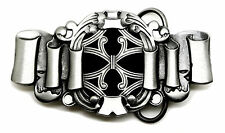 Celtic Belt Buckle Ribbon Knot Theme Black & White Authentic Dragon Designs