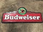 "Large Vintage 1994 Budweiser Beer Vintage Collectible Tin Metal Sign 60x26"""