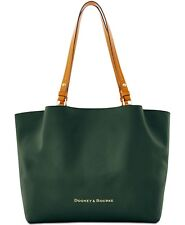 Dooney & Bourke City Flynn Tote Color Forest Gold Hardwer Italian Leather Large