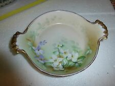 Lovely Hand Painted M&Z Austrian Habsburg BT Hallmarked Two Handle Candy Dish