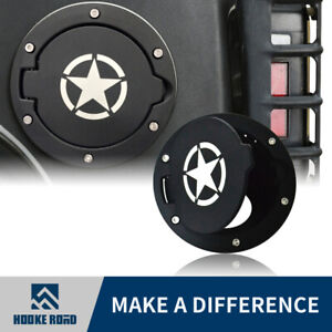 Hooke Road Star Style Gas Tank Cover Fuel Cap Fit For 2007-2018 Jeep Wrangler JK