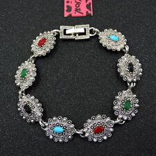 Betsey Johnson Fashion Jewelry Noble Colorful Gemstone Bangle Bracelet