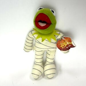 "Disney Halloween Kermit the Frog Mummy Plush 2013 Just Play 9"""